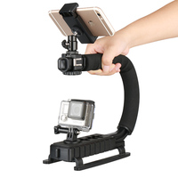 Ulanzi 3 Shoe Mounts Video Stabilizer Handheld Grip For Gopro Hero Action Cameras for iPhone Xiaomi Smartphone DSLR Nikon Canon
