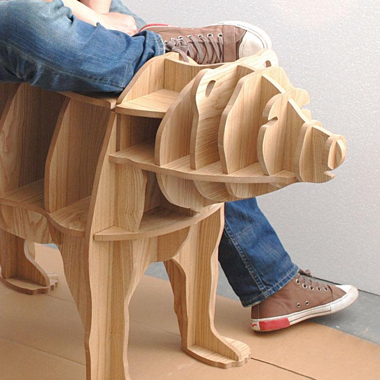 Escritorio de almacenamiento de madera maciza multifunción de 42 - Mueble - foto 5