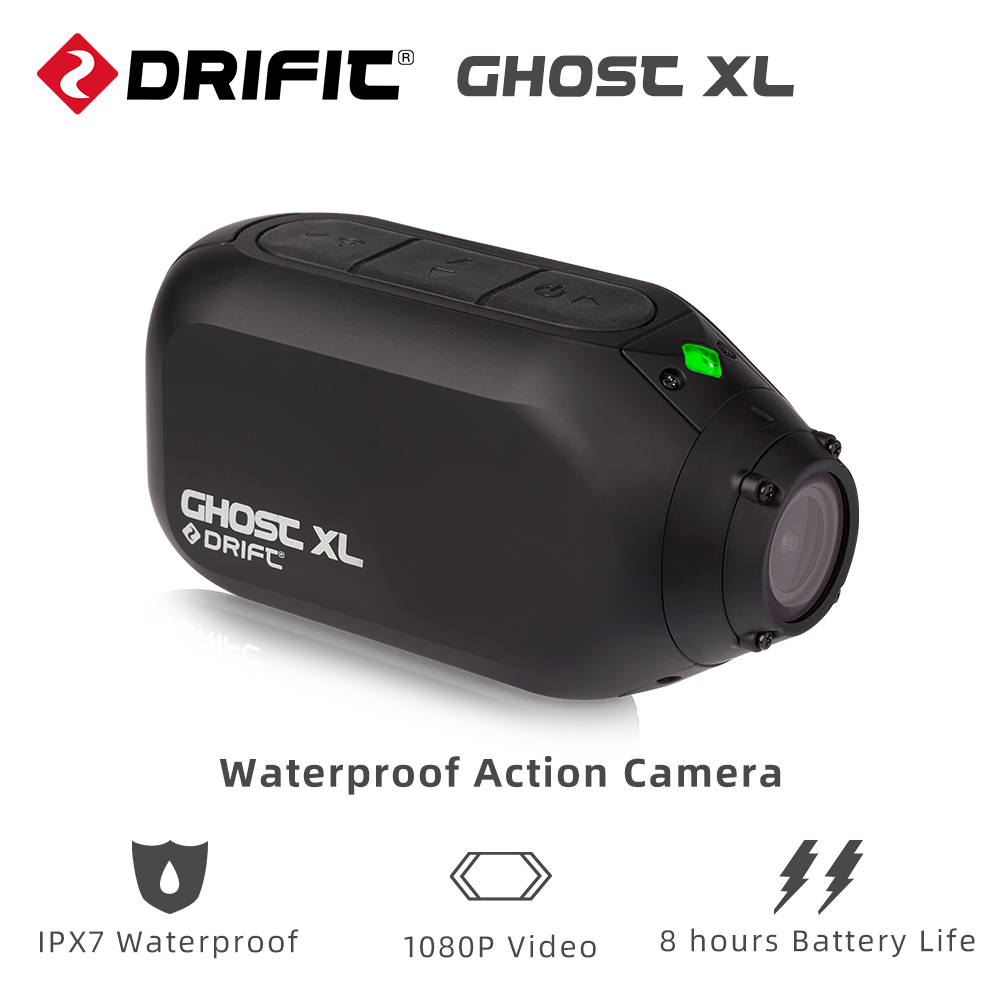 Drift Action-Camera Video Battery-Life Waterproof 1080P XL with IPX7 8-Hours