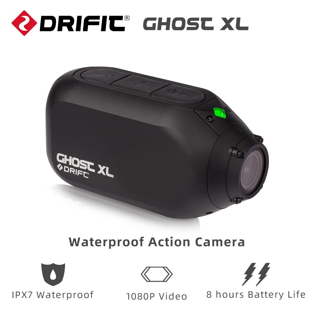 Deriva ghost xl câmera de ação impermeável com ipx7 impermeável 1080 p vídeo 8 horas de vida útil da bateria