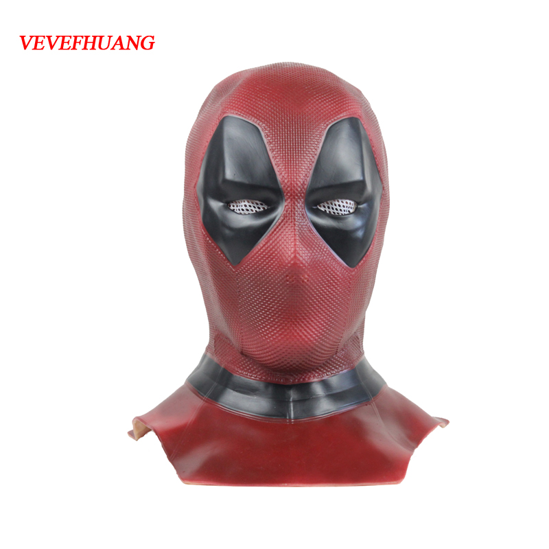VEVEFHAUNG Deadpool 2 Marvel Deadpool masques Halloween Cosplay Costume super-héros film Latex masque jouets de collection masque complet