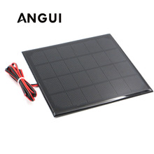 Panel Solar de 6V con cable de 30/100/200cm, Mini Sistema Solar DIY para batería, cargador de teléfono celular, 0,6 W, 1W, 1,1 W, 2W, 3W, 3,5 W, 4,5 W