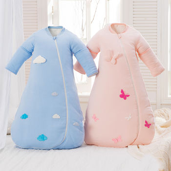 Baby sleeping bag envelop for neonate pure cotton newborn baby infant wrapped cocoon in winter stroller bag thicken sleeping bag