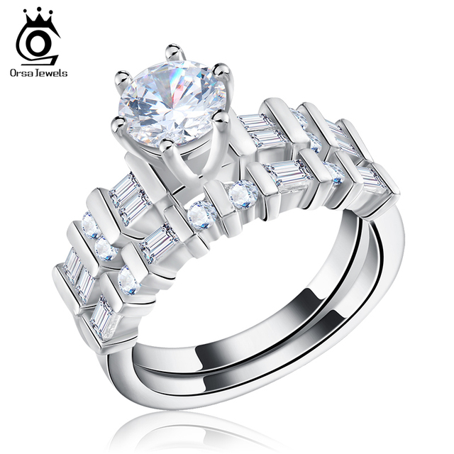 orsa jewels luxury wedding ring set women rings 13ct brilliant zircon engagement fashion jewelry or113 - Wedding Rings Sets For Women