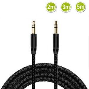 2m 3m 5m 3,5mm cable auxiliar macho a 3,5mm Jack macho Aux audio estéreo Cable de audio para audífonos cable Lin para teléfono MP3/MP4 auriculares
