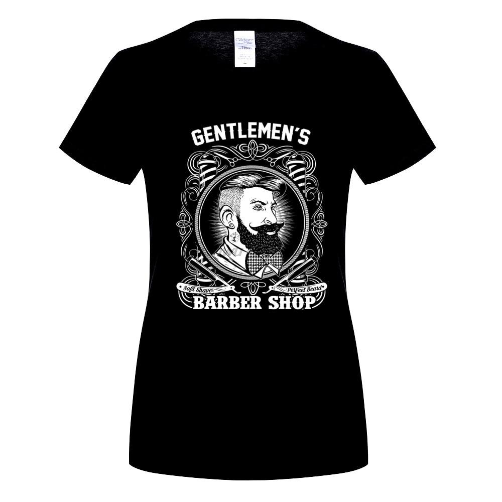 GILDAN Velocitee womens Barber Shop Hipster T Shirt Gentlewomens Barbers womens Print T-Shirt 100% Cotton Top Tee