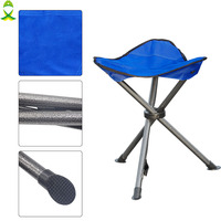 JSM Outdoor Portable Folding blue Fishing Chairs Picnic Beach Seat for fishing Tackle equipment
