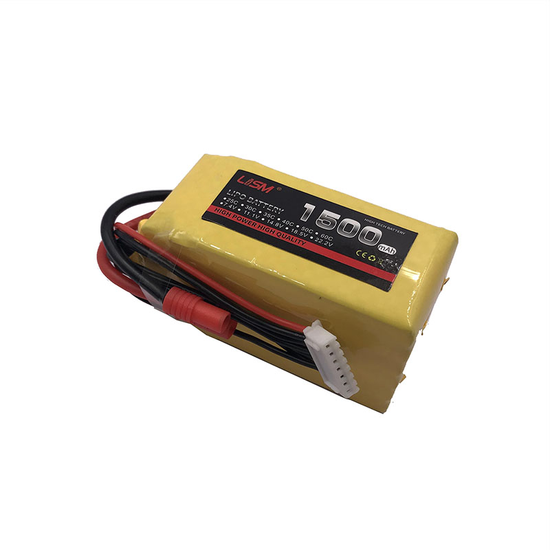 <font><b>Lipo</b></font> Battery <font><b>6S</b></font> 22.2V <font><b>1500mAh</b></font> 20C For RC Helicopter Drone Car Boat Quadcopter Airplane Remote Control Toy Li-ion Lithium #40B22 image