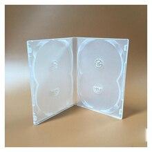 2 uds. De caja de plástico suave transparente, 4DVD, 19x14mm, inserción de sujeción/4 discos