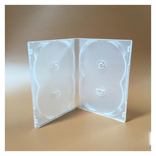 Boîtier plastique souple Transparent 4DVD, 2 pièces, pour insérer/4 disques