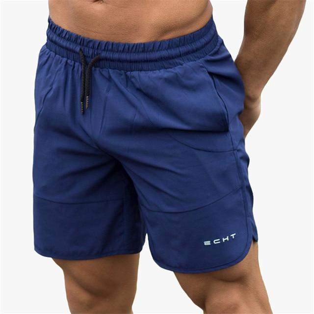 b43d52eaf15a1 2018 Calções de Verão Homens Crossfit Aptidão Moletom Respirável Academias  de Musculação Casual Mens Calções