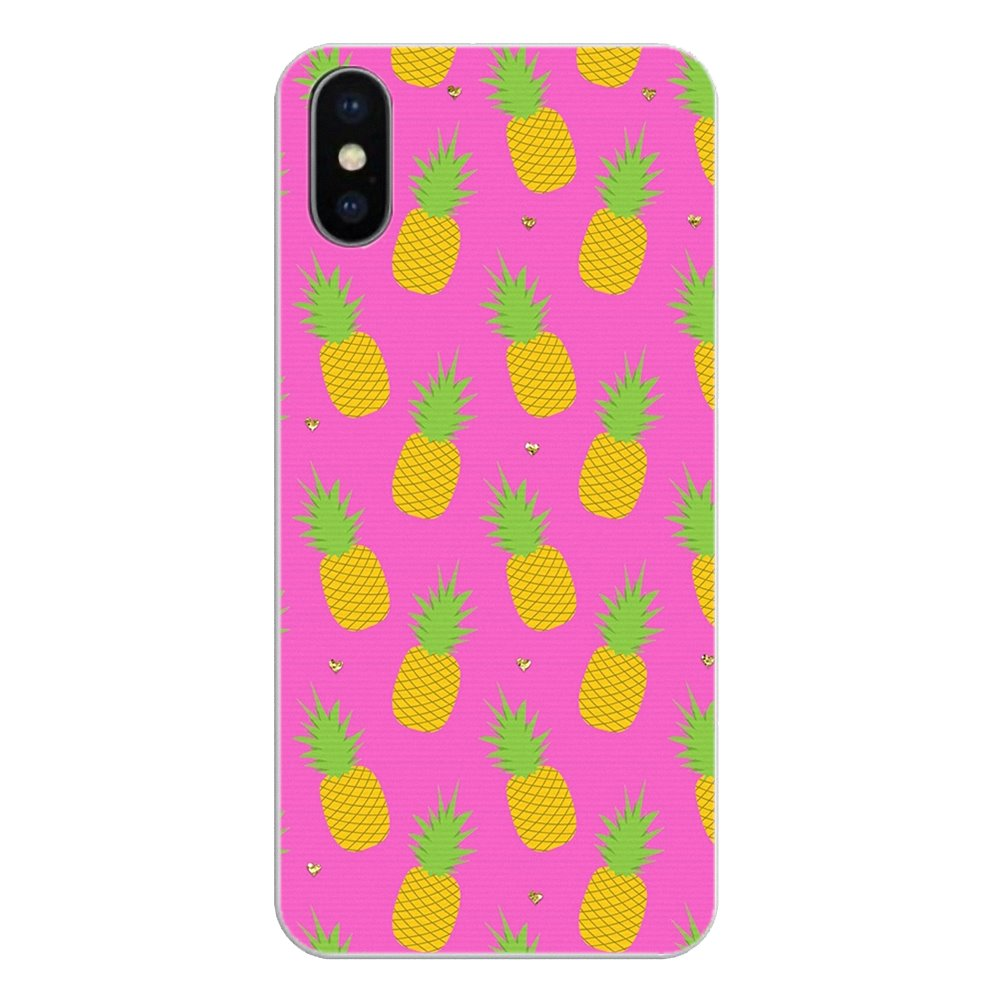 Cute Lovely Pineapple Fruit Iphone Wallpaper Soft TPU Cover For Huawei Honor 8 8C 8X 9