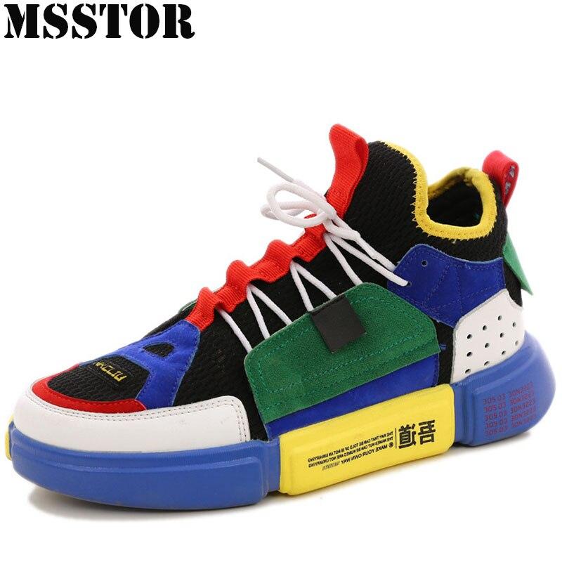 MSSTOR Для женщин Для мужчин Скейтбординг обувь мужчина бренд любителей плоские с прогулочная спортивная обувь для Для женщин открытый спорти...