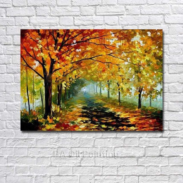 Atfart Living Room Hall Wall Art Handmade Landscape Oil: Aliexpress.com : Buy High Quality Handpainted Abstract