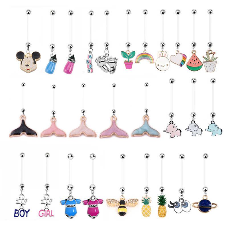Колечки для пупка Bohmeian, 1 шт., модные женские пупырчатые серьги для беременных, милые детские украшения для тела, пупка Nombril