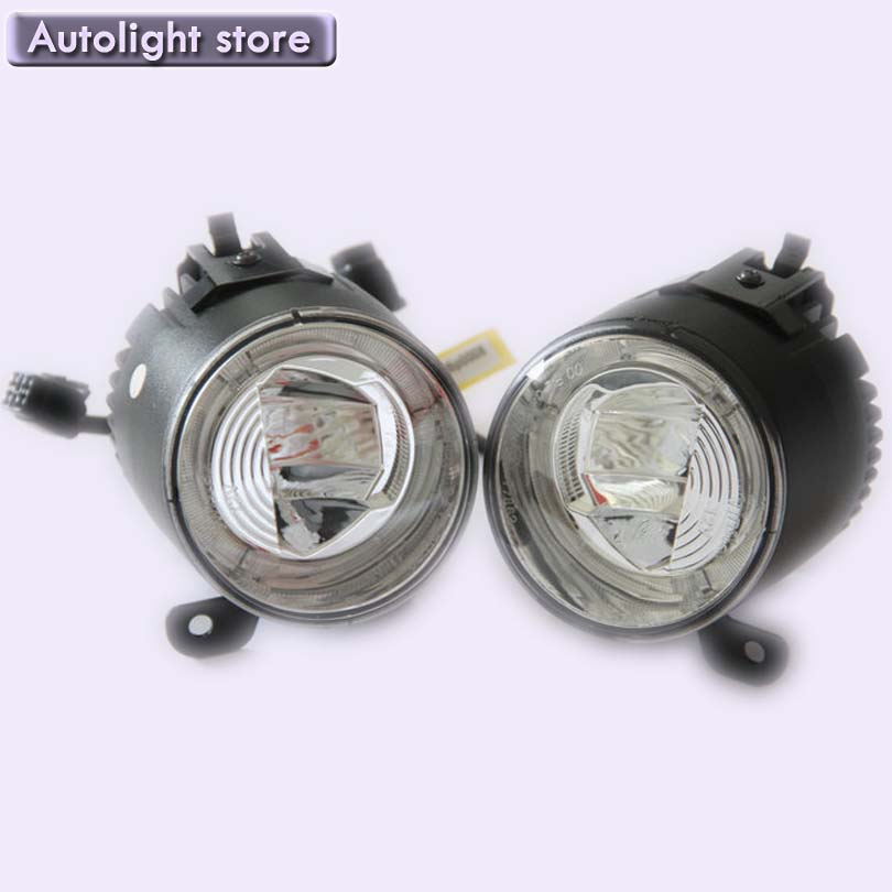 Discount price 10W LED Round Daytime Driving Running Light DRL Car Fog Lamp Headlight for Golf 5100% waterproof IP67 qvvcev 2pcs new car led fog lamps 60w 9005 hb3 auto foglight drl headlight daytime running light lamp bulb pure white dc12v