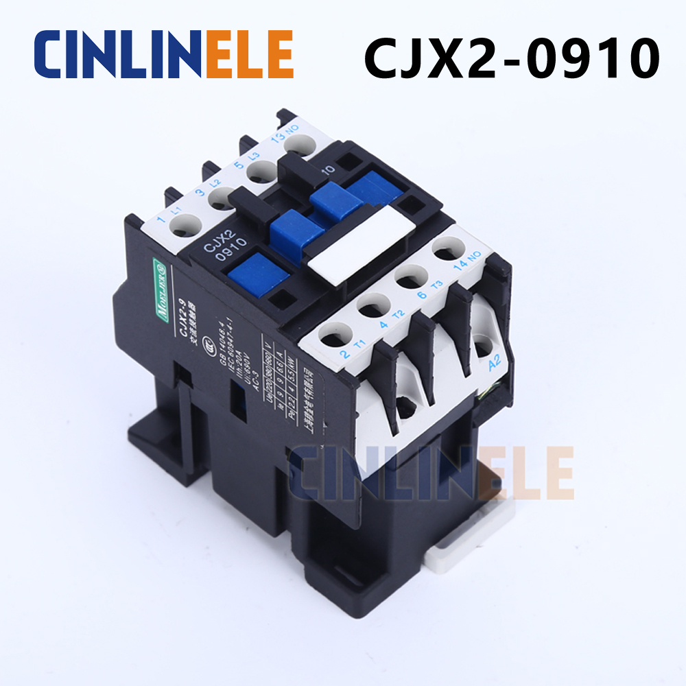 Contactor CJX2-0910 9A switches LC1 AC contactor voltage 380V 220V 110V Use with float switch cjx2 lc1 1210 25a 220v 660v ac contactor black white
