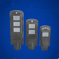 20w 40w 60w LED solar street light Outdoor Waterproof IP65 PIR sensor Smart light changes led light 50mm interface smart light