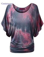 Brand New Sexy Batwing Sleeve Shirts For Women Summer T Shirt Cotton Blend O Neck Short