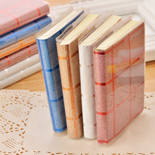 4pcs/lot 8*10.5*1cm Korean Version Shiny Plastic Sets Crystal Notebook Notes Flashing Gold Foil Student Prizes
