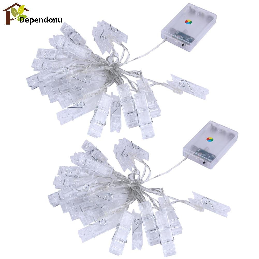 2.3M Mini 20 Led Clip String Lights Christmas Fairy Battery Lights ...