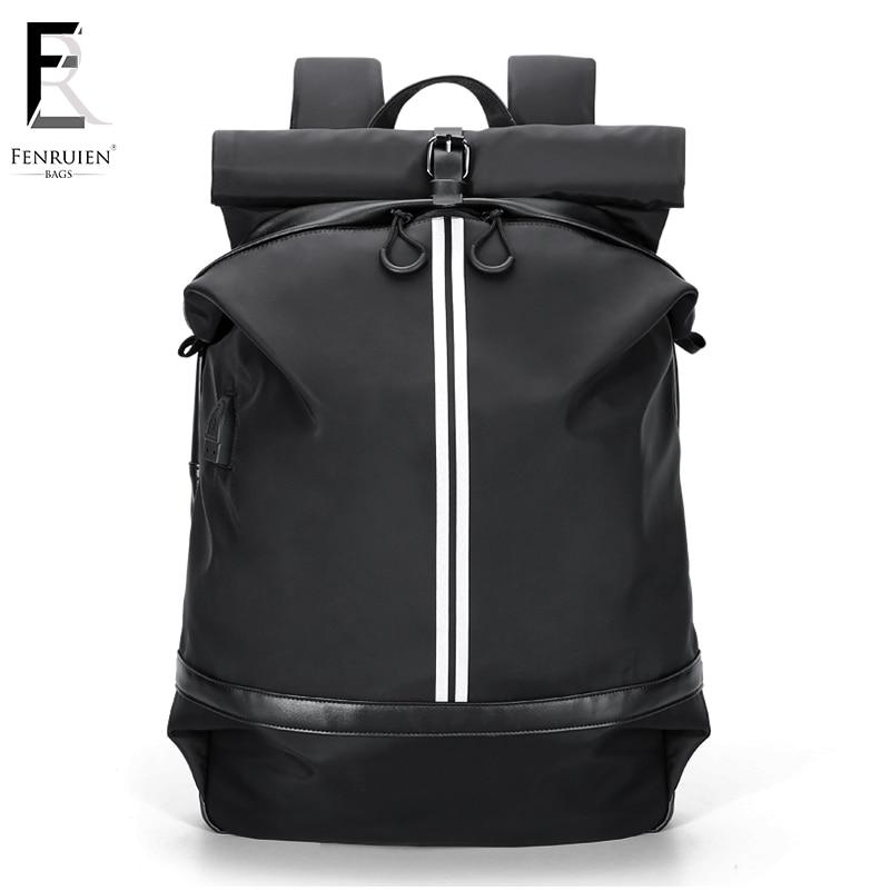 FRN étanche 15.6 pouces sac à dos pour ordinateur portable hommes USB charge sac à dos pour adolescent filles décontracté voyage sac à dos Mochila femmes homme