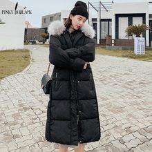 купить PinkyIsBlack Winter Jacket Women Plus Size 2019 New Fashion Womens Down Cotton Coat Thick Fur Hooded Winter Coat jackets Female по цене 2070.52 рублей