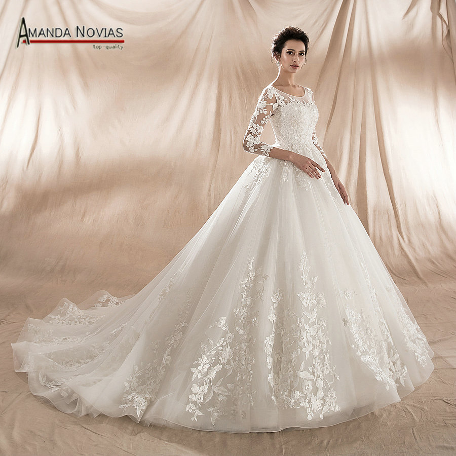 eb5a999d3ea New Model 2018 Ball Gown Wedding Dress Factory Direct Sale High Quality