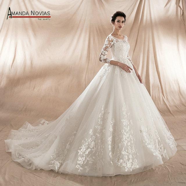 New Model 2019 Ball Gown Wedding Dress Factory