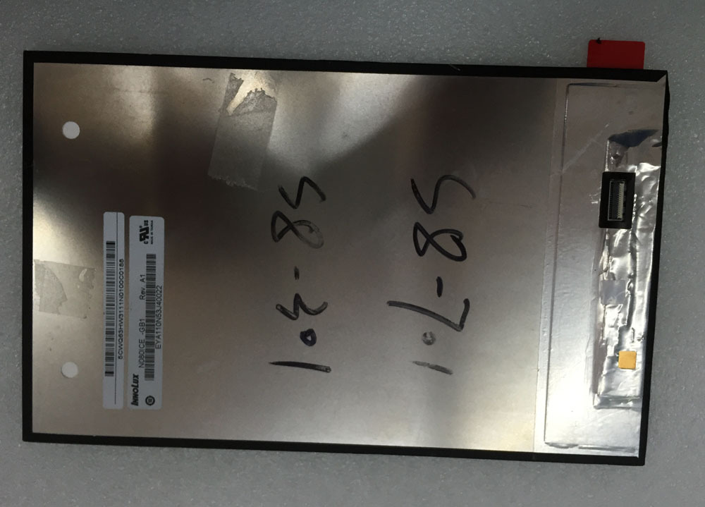 N080ICE -GB1 For Huawei Mediapad M1 8.0 S8-306L S8-301L S8-301u S8-701U T1-821 T1-823 LCD Display Panel Screen free shipping