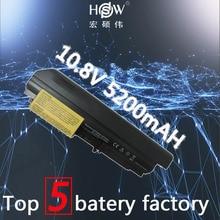 5200mAh NEW Laptop Battery for IBM R61 R61i T61 T61p (14.1 widescreen) FOR Lenovo R400 T400 FRU 42T5262 bateria akku