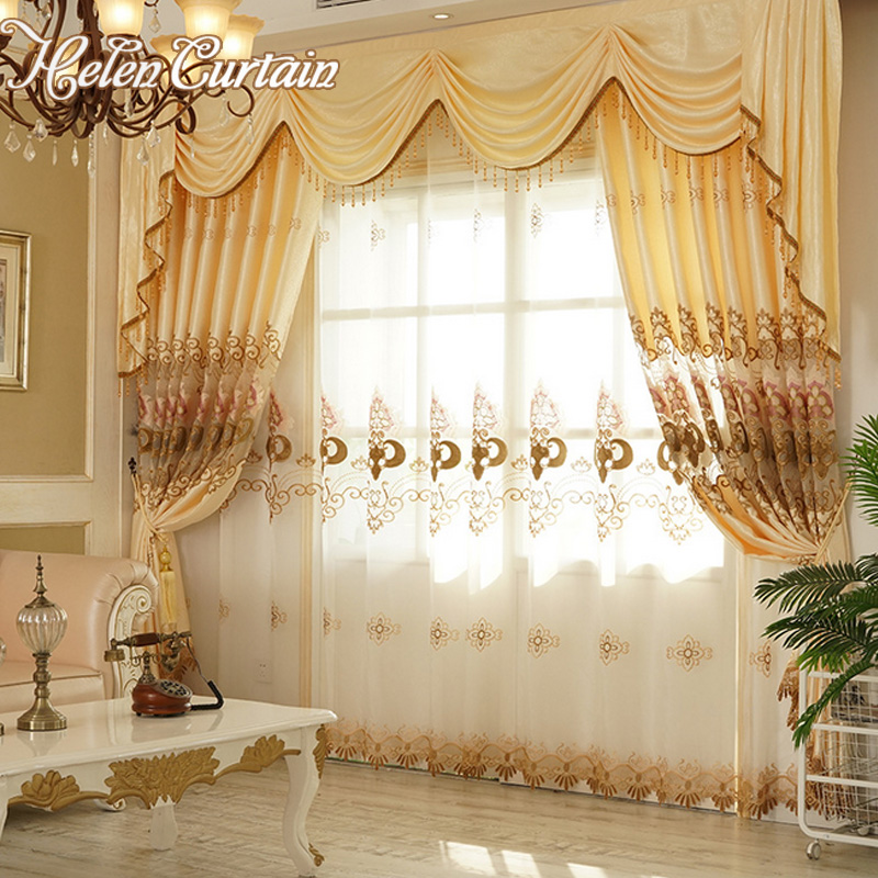 Helen Curtain New Arrive Embroidered Set Curtains Luxury European Valance  Curtains For Living Room White Sheers For Bedroom  In Curtains From Home U0026  Garden ... Part 61