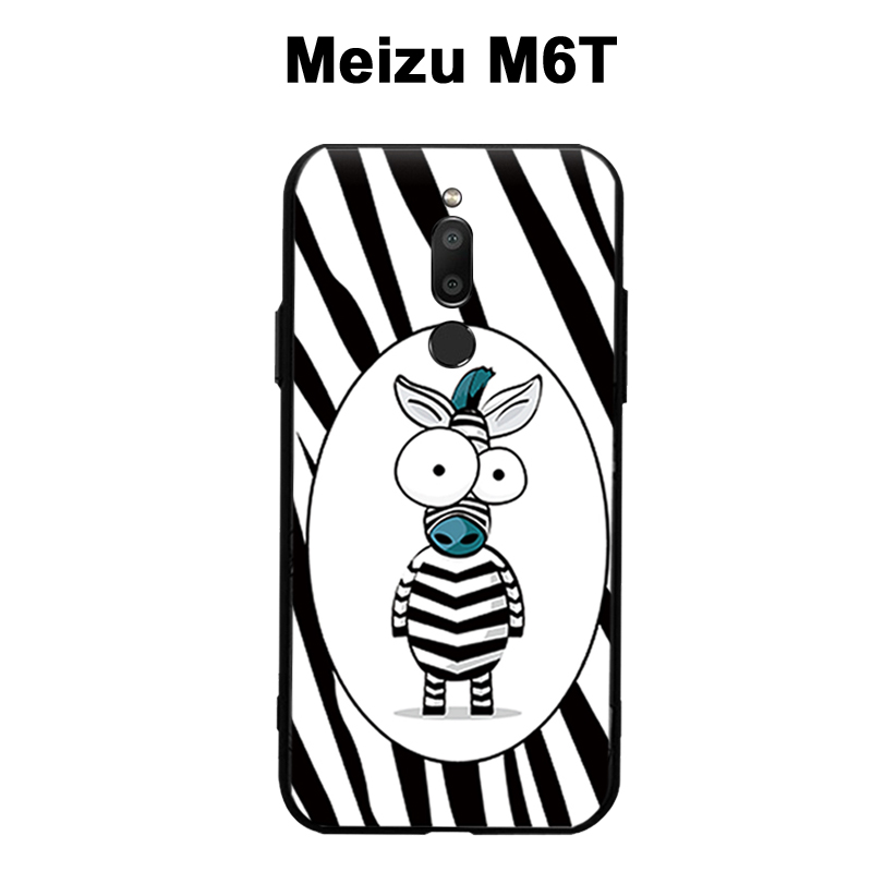 Meizu M6T Case Cover Black 3D Relief Case For Meizu M6T cover case Phone Silicone Cartoon TPU Meizu M 6 T  phone case