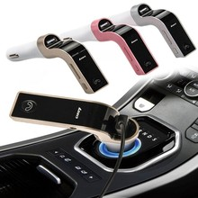 4 en 1 Cargador de Coche Bluetooth Manos Libres FM Del Modulador Del Transmisor Inalámbrico Kit de coche Reproductor de MP3 USB SD LCD Coche Reproductor de Música AUX G7