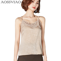 2017 Cotton Velvet Lace Tops Women Solid Sexy Crop Tops Fashion Spring Summer Camisole Halter Top
