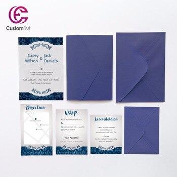 30pcs/lot personalized pocket card set pocket envelop+matching envelop+card+RSVP free shipping PKEE026V103