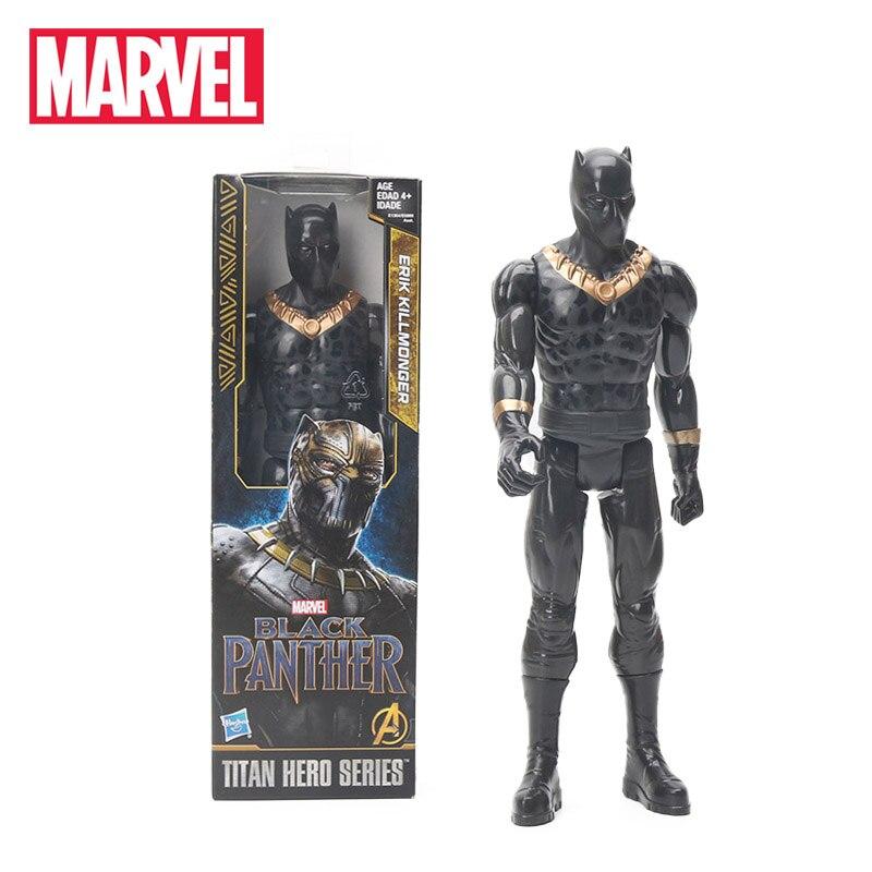 30cm Erik Killmonger Black Panther PVC Action Figure Titan Hero Series Marvel Toys the Avengers Figures Hero Collection Model titan hero 30 см