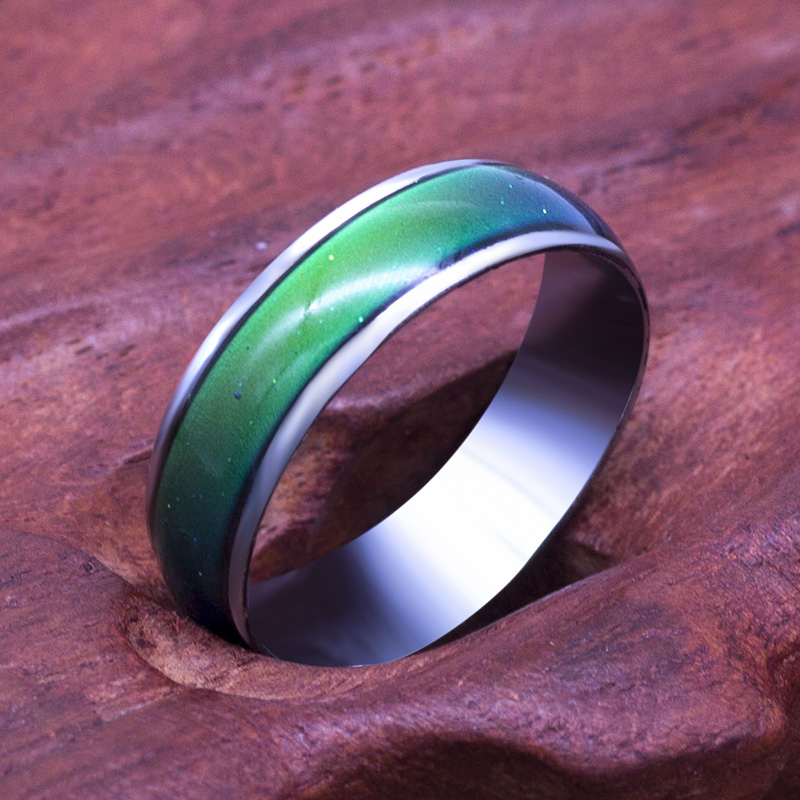 Classic Temperature Change Color Mood ring Hot sale jewelry 6mm Wide Smart Discolor rings