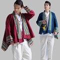 2016 nueva otoño ropa de los hombres de los hombres del estilo chino chaqueta de encaje casual moda loose tamaño grande capa de la rebeca, chaqueta de lino Q384