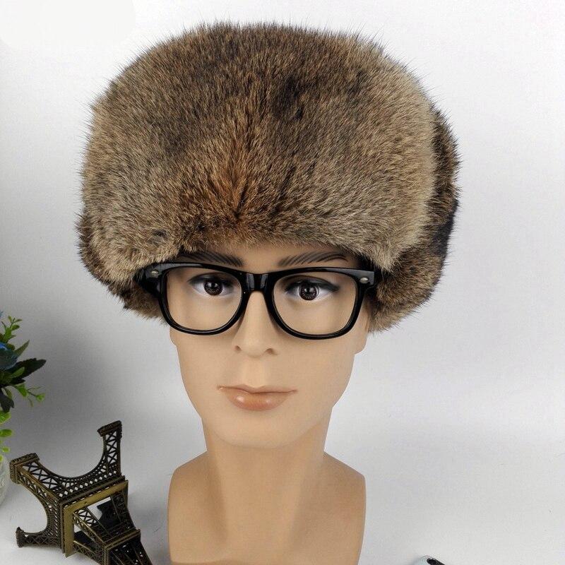(topfurmall) Männer Echt Wholeskin Kaninchen Fell Bomber Hüte Winter Warme Mützen Mode Ohr Protector Kopfbedeckungen Für Liebhaber Lf4055 Direktverkaufspreis