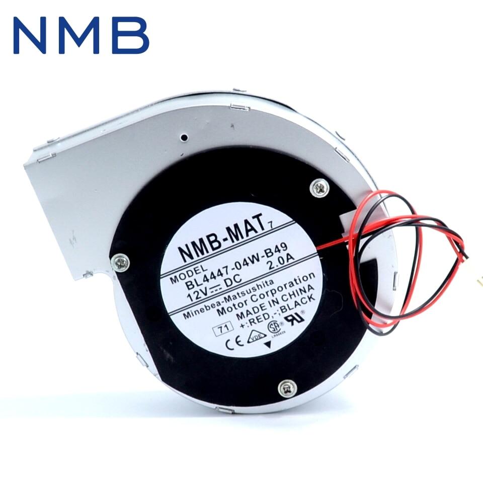1pcs 11028 12V 2A 2wire turbine centrifugal fan blower BL4447-04W-B49 110*110*28mm nmb 3610kl 05w b49 9225 24v 3 wire cooling fan blower