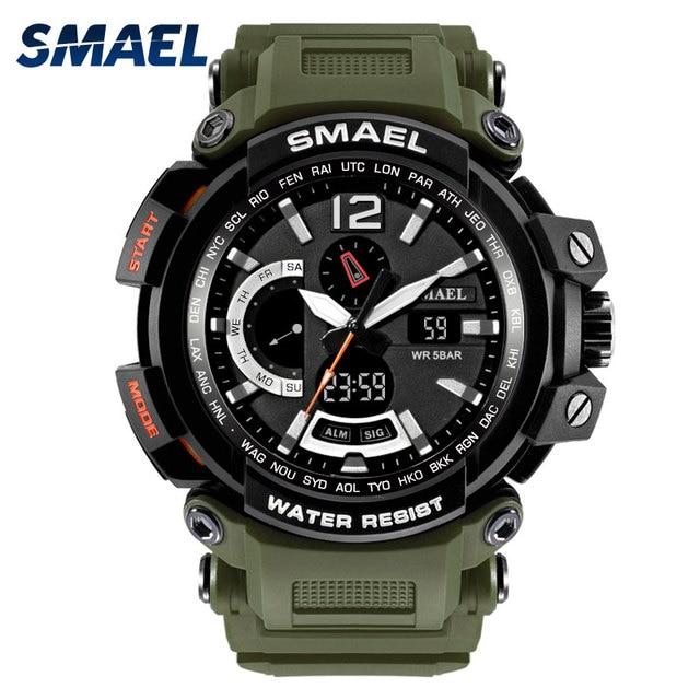 48da7c13d SMAEL Marca Homens Relógios Homens Relógio Militar Do Exército Esporte  militar LED Digital Data de Alarme