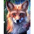 Наклейки Животные лиса 3D Алмазная картина крестиком Настенный декор полный квадрат 5D алмазная вышивка лиса узор мозаика картинки