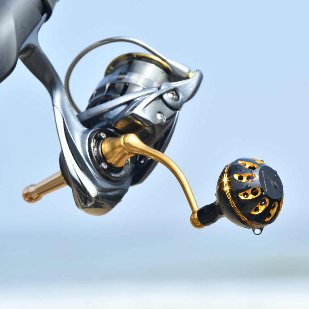 Gomexus Reel Handle Knob For Daiwa Exceler LT Certate 2000 - 4000 Direct Daiwa BG Penn Battle II 1000 - 4000 Drill 38mm