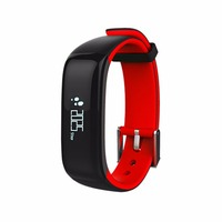 P1 Waterproof Unisex Health Care Smart Bracelet Bluetooth Wrist Blood Pressure Monitor Heart Rate Monitoring Call Shock Reminder