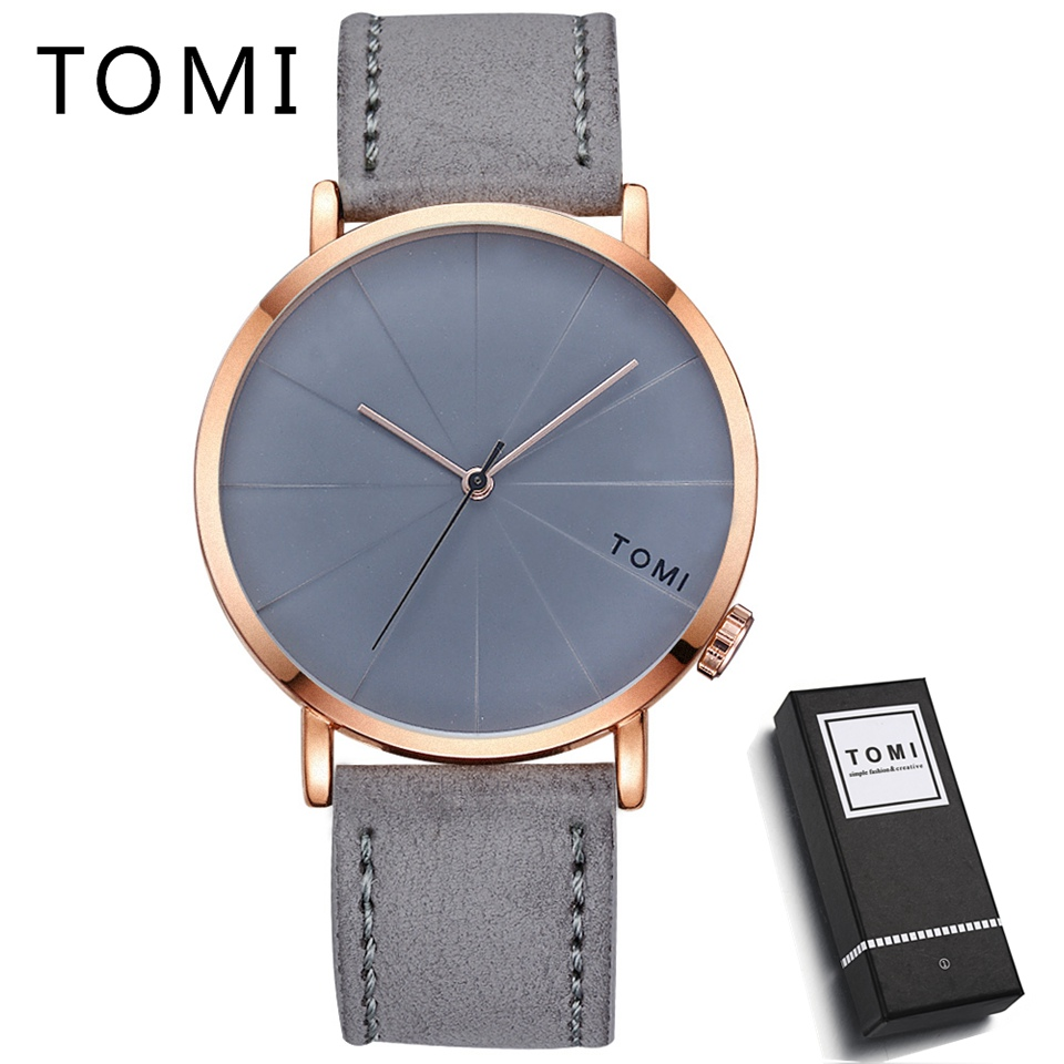Tomi Men Watches Top Brand Luxury Leather Strap Sport Military Wristwatch Luxury Business Clock Fashion Casual Quartz Watch T010 цена и фото