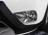 JanDeNing 2 stuks ABS Chrome Front Light Fog Lamp Frame Cover Trim Refit Voor Toyota RAV4 2013-2015