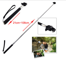 108CM Selfie Stick Sports Camera Stand Handheld with Adapter For Gopro