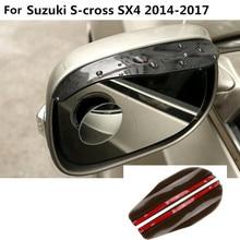 car rear Rearview glass Mirror Rain Eyebrow Shield Sun Visor Shade 2pcs For Suzuki S-cross scross SX4 2014 2015 2016 2017