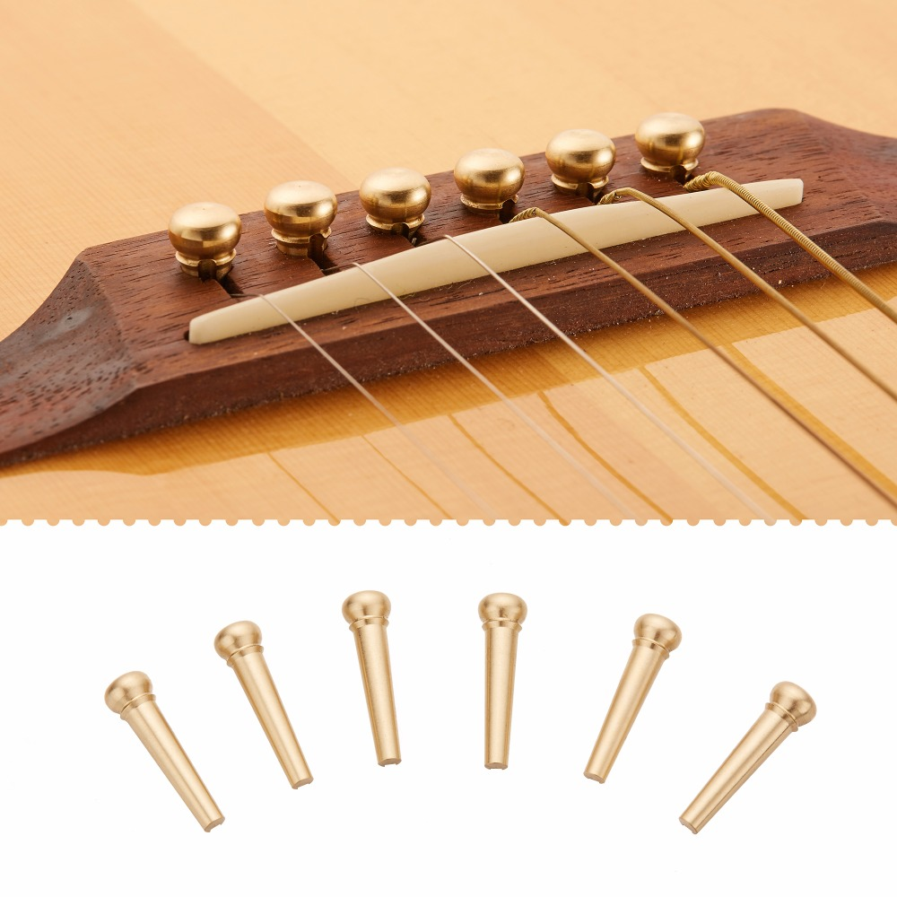 12 pcs brass acoustic guitar bridge pin with electric 28mm length biggest install diameter. Black Bedroom Furniture Sets. Home Design Ideas